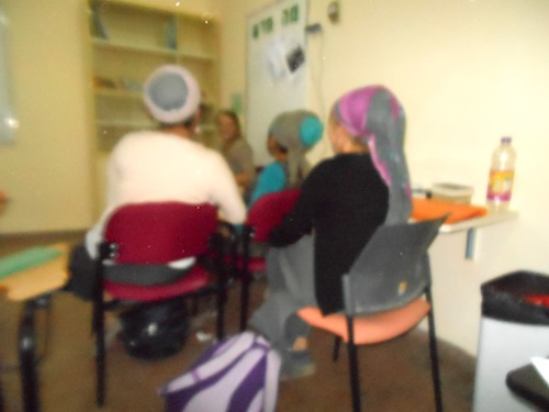 Young women in Efrata College classroom